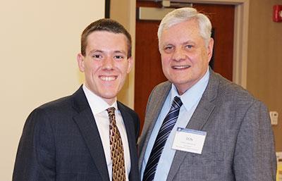Brandon Pugh (at left) joined the NJSBA Board of Directors as an alternate representing Burlington County.