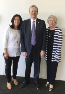 Left to right, Francine Ling, Hanover Park Regional board member; Dr. Lawrence S. Feinsod, NJSBA executive director; and Maud Dahme, former president, New Jersey State Board of Education