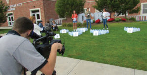 "Ocean City High School students created a video for the ""Imagine a Day Without Water"" campaign."