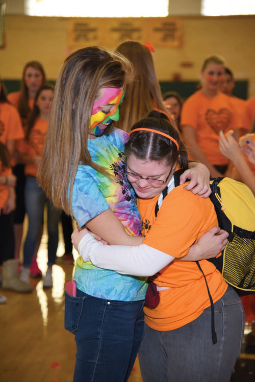 "Hugs are a frequent and welcome part of the day at North Hunterdon High School's long-running  ""Friendship Day."""