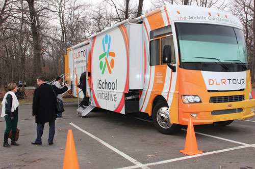 Early this year at NJSBA's Technology Conference attendees queued up to tour the technology-rich mobile classroom. At Workshop 2016, the bus will be parked on the Exhibit Floor at the Atlantic City Convention Center