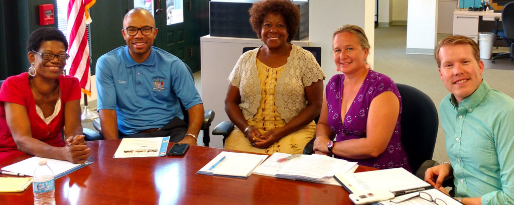 Assemblyman Adam J. Taliaferro met with school board members, as summer legislative meetings continued.