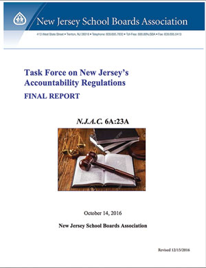 Task Force on New Jersey's Accountability Regulations Final Report