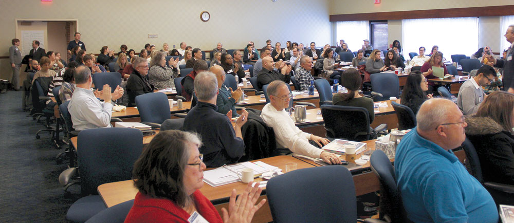 Approximately 100 board members attended the program.