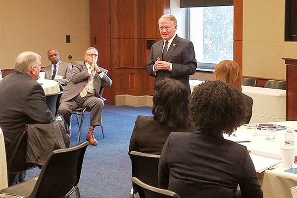 : U.S. Rep. Leonard Lance (Dist. 7)spoke to New Jersey school board members about federal issues impacting public education.