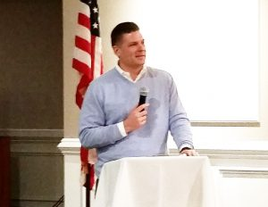 Assemblyman Louis Greenwald spoke to the board members from Camden and Gloucester counties.