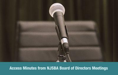 Minutes from NJSBA Board of Directors Meetings