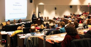 Saturday's Delegate Assembly drew nearly 200 board members. NJSBA President Dan Sinclair presided over the meeting.