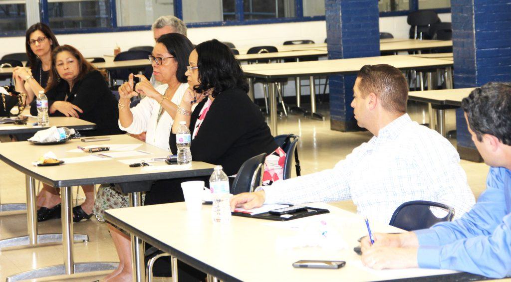 Attendees contributed to an engaging discussion of school funding, and advocacy, at the forum in West Orange.