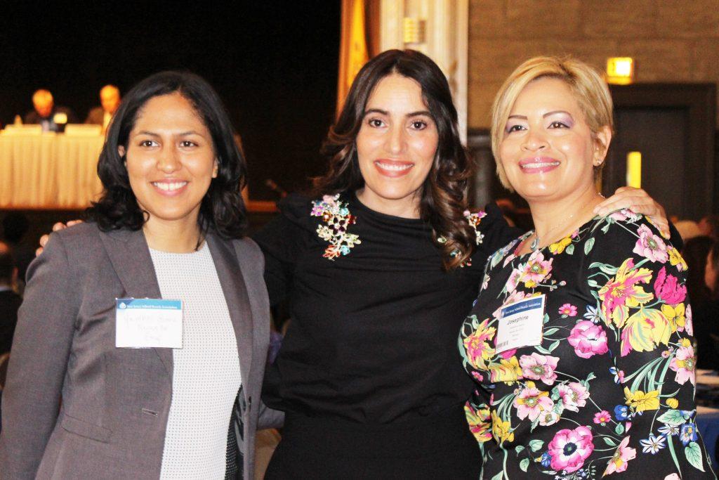 Left to right: Yambeli Gomez, Newark Board of Education member; Sen. M. Teresa Ruiz, chair, Senate Education Committee; and Josephine Garcia, Newark Board of Education chairperson