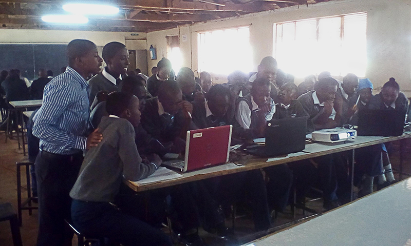 NJSBA donates fifteen computers to the Rungiri Secondary School in the Kikuyu area of Kenya so students can gain the computer skills that will help them qualify for college admission and help them become career-ready.
