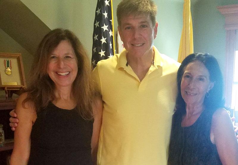 Left to right: Sharon Seyler, NJSBA legislative advocate; Senator Chris Brown (Legislative District 2); and Melanie Schulz, New Jersey Association of School Administrators director of governmental relations.