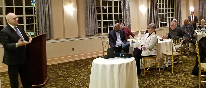 During the Hudson County School Boards Association meeting held last week in Secaucus, Anthony N. Dragona, Ed.D, school business administrator/interim board secretary for the Union City Public Schools, talked about the board's role in finance.