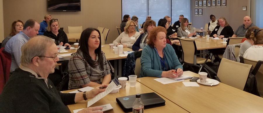 County association school board leaders met Saturday, Feb. 22 at NJSBA headquarters in Trenton.