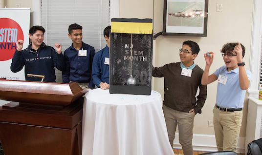 """students from the Toms River school district, who are shown celebrating the """"ball drop"""""""