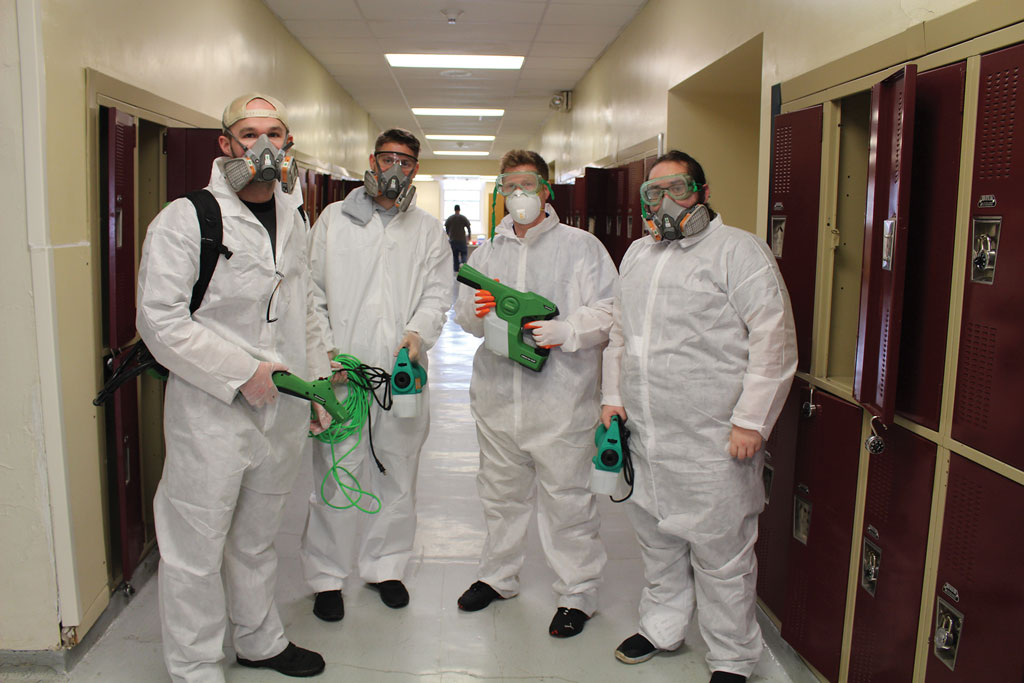 Deep Cleaning the School in Glassboro Glassboro school district supplemented its cleaning services by bringing in a special service that specializes in electrostatic cleaning.